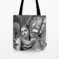 evolution Tote Bags featuring Evolution by DIVIDUS