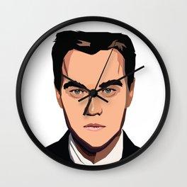 Portrait of Leonardo Wilhelm DiCaprio Wall Clock