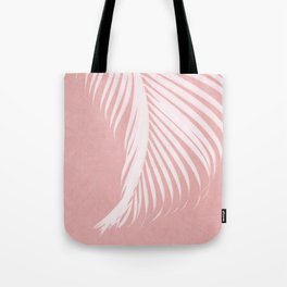 Palm Leaves on Pink I Tote Bag