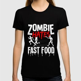 Halloween Zombie Fast Food funny costume gifts T-shirt