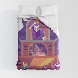 Tiny Worlds - Lavender Town Tower Duvet Cover