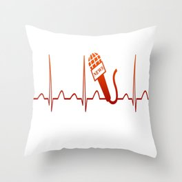 NEWSCASTER HEARTBEAT Throw Pillow