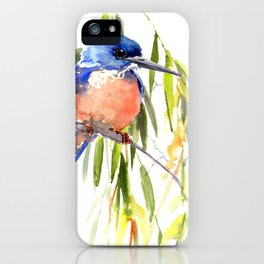 KIngfisher and Weeping Willow iPhone Case