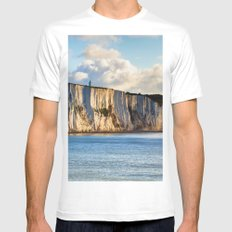 Cretaceous rocks of Dover Mens Fitted Tee White MEDIUM
