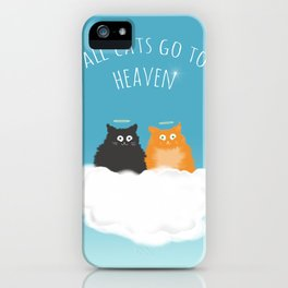 All Cats go to Heaven iPhone Case