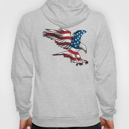 Patriotic Flying American Flag Eagle Hoody