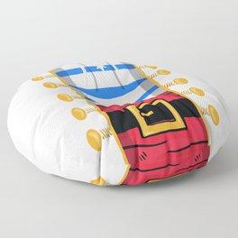 Funny Privateer Pirate Captain Costume Halloween Floor Pillow