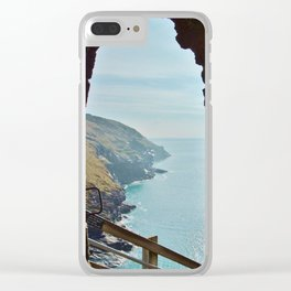 TINTAGEL CASTLE A ROOM WITH A VIEW Clear iPhone Case