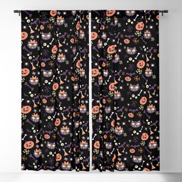 eek, boo, and treats Blackout Curtain
