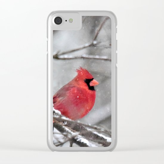 Quiet Time in the Snowy Woods Clear iPhone Case