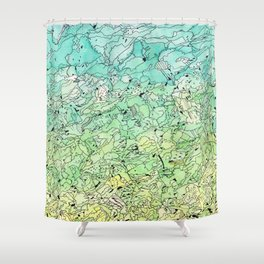 Between The Earth and Sky Shower Curtain