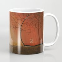 pixies Mugs featuring Walking Among the Pixies by Mary Frankenfield
