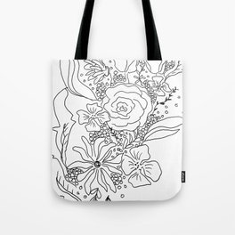 Floral Sketch Tote Bag