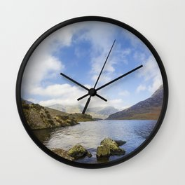 Two Hearts In The Sky Wall Clock