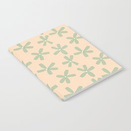 Green & Pink Floral Notebook