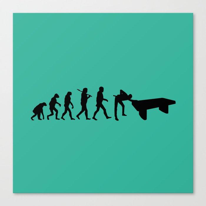 Evolution snooker Canvas Print