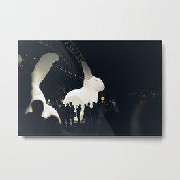 Giant inflatable rabbit Metal Print
