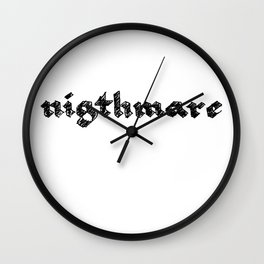 nigthmare Wall Clock