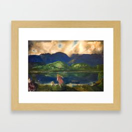 "George Wesley Bellows ""Coopers Lake"" Framed Art Print"