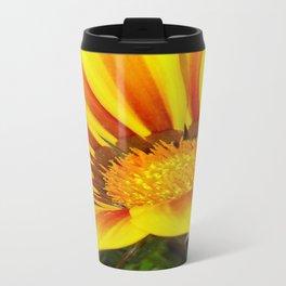 Orange and Rust Color Gazania Montezuma Macro  Travel Mug