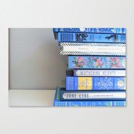 Shelfie in Blue 1 Canvas Print