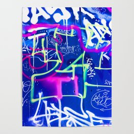 Blue Mood with Pink Language Poster