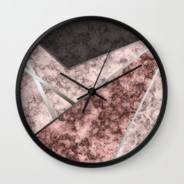 Marble . Combined abstract pattern . Wall Clock
