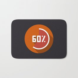 "Illustration ""percentage - 60%"" with long shadow in new modern flat design Bath Mat"