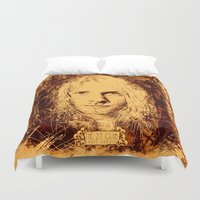 kurt cobain Duvet Covers featuring 27 Club - Cobain by MUSENYO