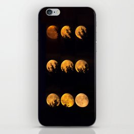 Red blood waning moon iPhone Skin