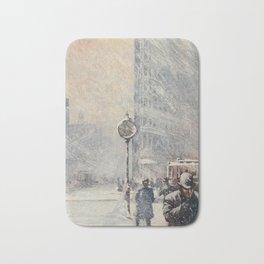 Lewis, Martin (1881-1962) - New York 1911 - A Blizzard, 23rd St & Broadway Bath Mat
