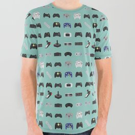 Console Evolution All Over Graphic Tee