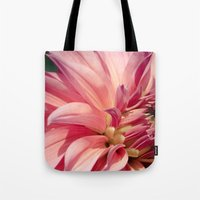dahlia Tote Bags featuring Dahlia  by A Wandering Soul