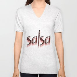 Salsa Faded Rican Unisex V-Neck