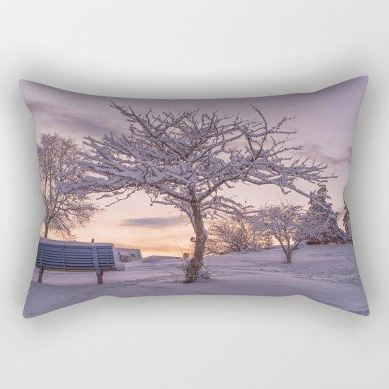 Winter Sunset #2 Rectangular Pillow