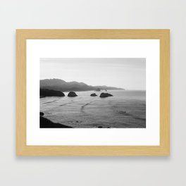 New Year's Morning, Ecola State Park Framed Art Print
