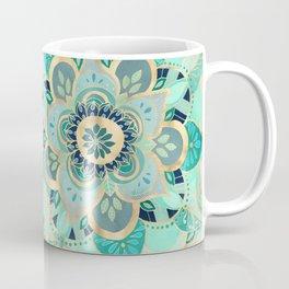 Gilded Emerald Enamel Coffee Mug