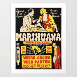 Weed With Roots In Hell Art Print