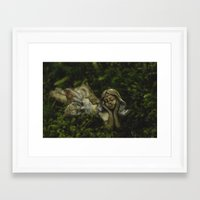 fairy Framed Art Prints featuring Fairy by Mark Spence