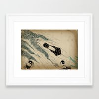 pool Framed Art Prints featuring Pool by Agne Nananai