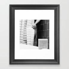The Bathroom  Framed Art Print