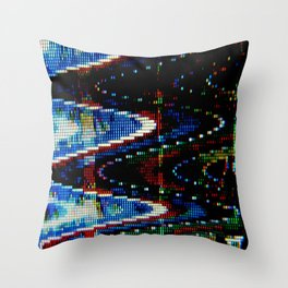 VHS-STYLE DISTORTION Throw Pillow