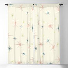 Mid Century Modern Stars Blackout Curtain