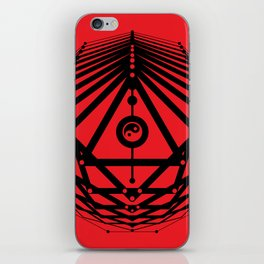 Radiant Abundance (red-black) iPhone Skin