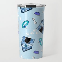 Dog Paradise in Blue Travel Mug