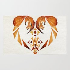 foxes heart  Rug