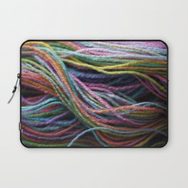 Rainbow Handspun Yarn / Multi-colored Laptop Sleeve
