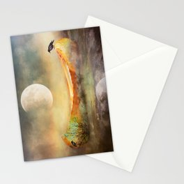 By the Light of the Crow Moon Stationery Cards