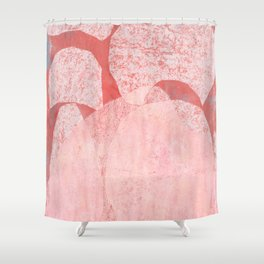 Catalogue - Graphic Abstract Geometric Print in Pink Shower Curtain