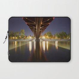 Peace Bridge at Night Calgary 3 Laptop Sleeve
